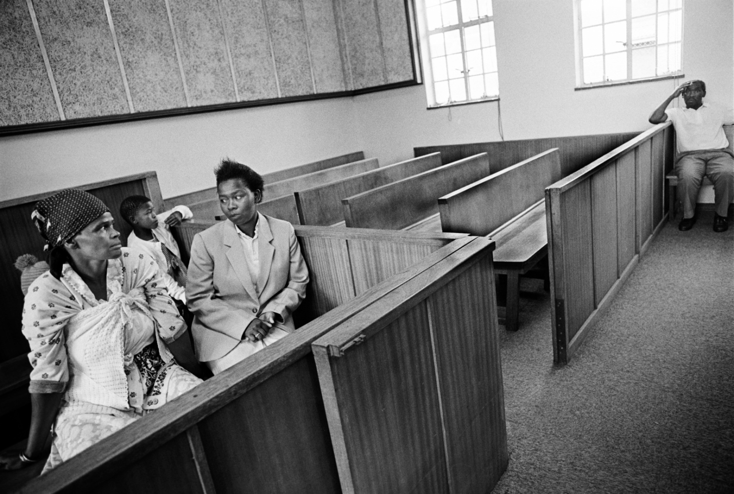 Banny in the courtroom, two days after his arrest, with Masindi and her mother. One 1996 study study found that nearly two-thirds of suspected offenders were never prosecuted. Of those, only 7 percent went to prison. 1998