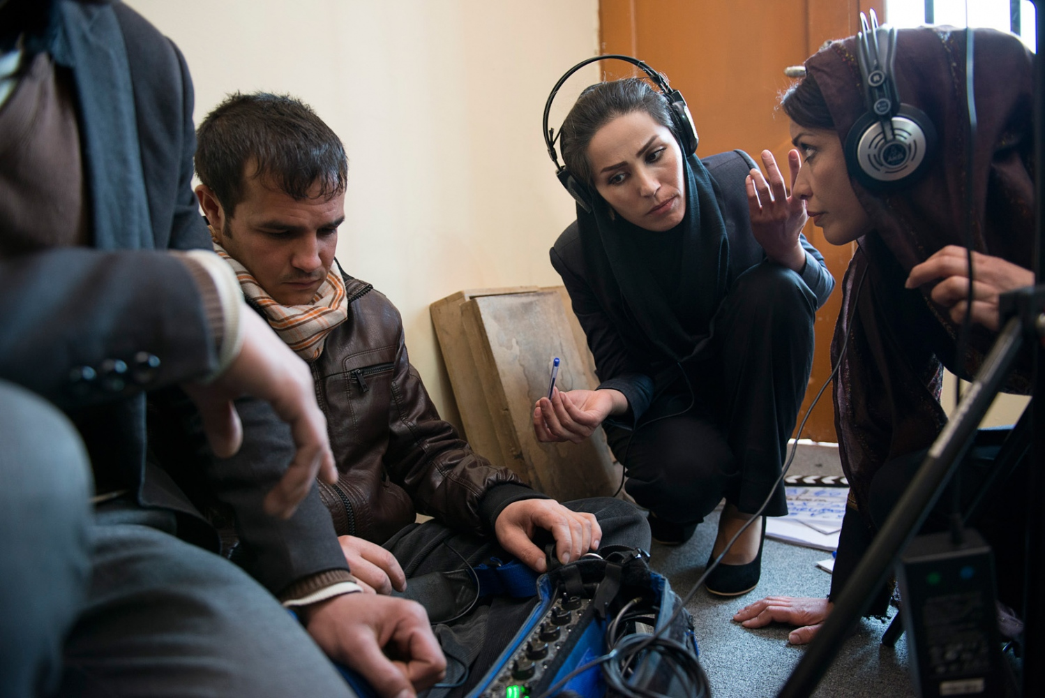 "KABUL, AFGHANISTAN | 2015-03-01 | The young and talented cast and crew behind the scenes of ""Shereen's Law"", a very controversial TV series due to be aired on Afghan TV before the end of the year, tells the story of a 36-year-old woman who brings up three children on her own while forging a career as a clerk at a court in Kabul, while the main character, Shereen, fights corruption, harassment, and rape, and tries to divorce her husband, whom she wed in a forced marriage."