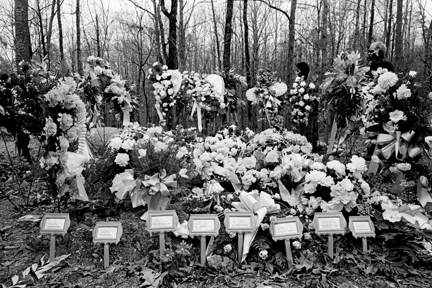 Mourners covered the grave site of the eight victims with floral tributes. Minnie Evans decided to use her anger and grief to try to pass some building codes (there were none in Bruce according to fire chief Charles Rogers). In April of 1993, the governor signed into law a measure requiring that barred windows be easily opened from inside. 1993