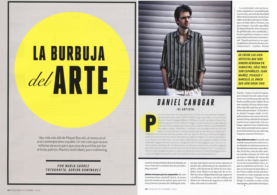Art empire for Esquire (Spain) 6 pages
