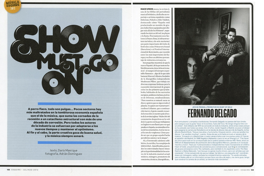 Music empire for Esquire (Spain) 6 pages