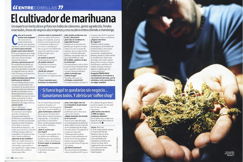 Hemp grower for FHM (Spain) 1 page