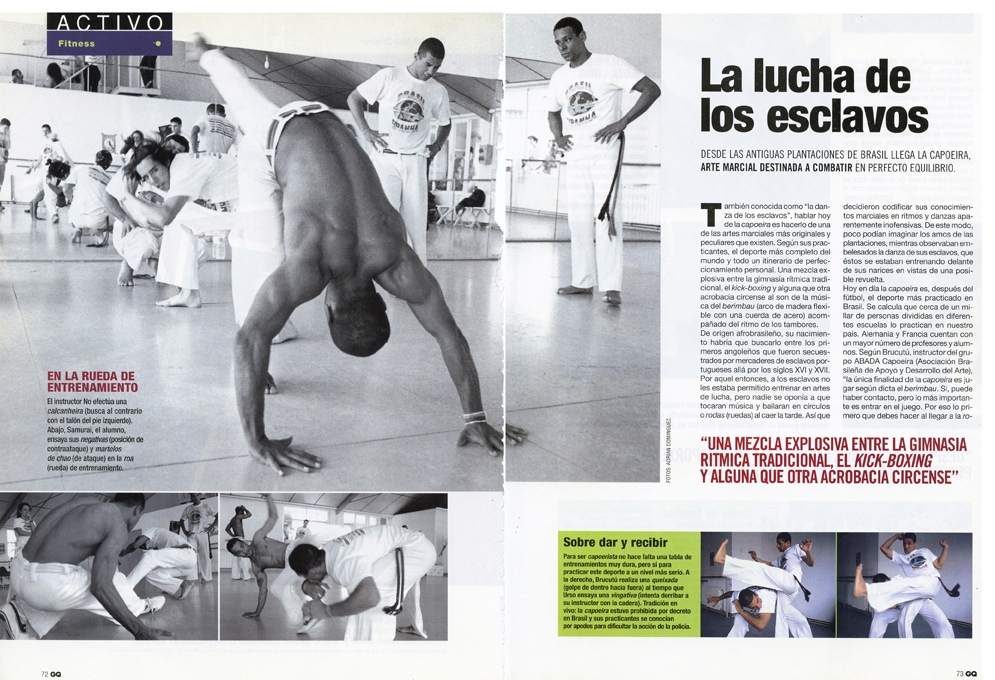 Capoeira do Brasil for GQ (Spain) 3 pages