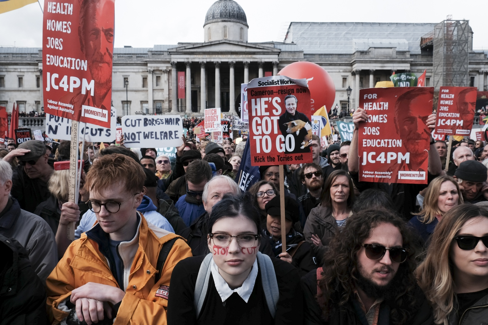 Anti-austerity march. 16th of April