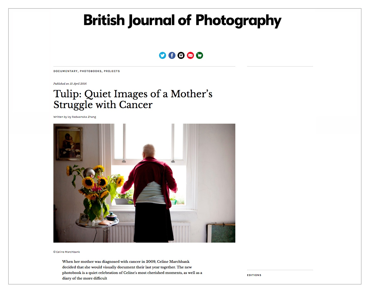 Britiah Journal of Photography feature.