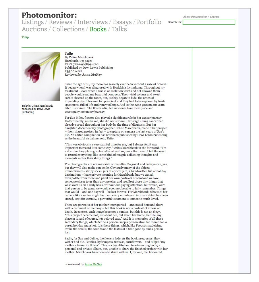 Photomonitor feature & book review by Anna McNay.