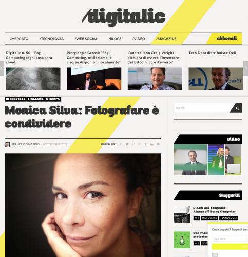 DIGITALIC MAGAZINE (Web) ITALY 2014