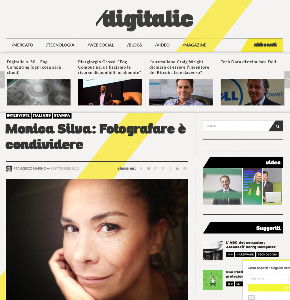 DIGITALIC MAGAZINE  (Web) ITALY 2014