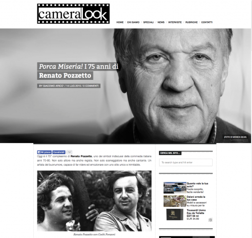 CAMERA LOOK  RENATO POZZETTO - 2015