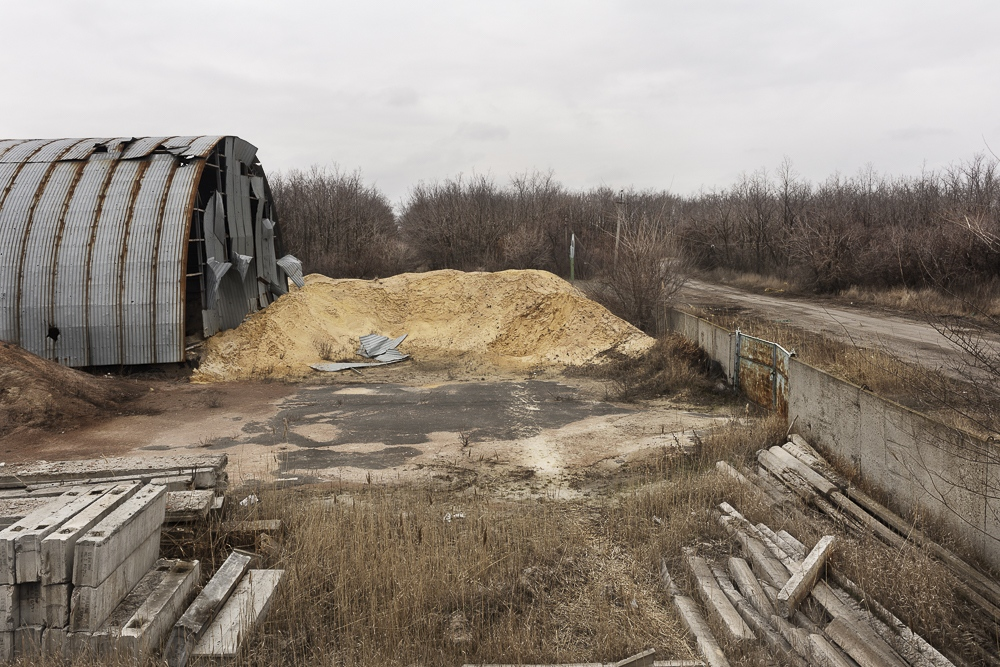 Inside the industrial zone between Avdiivka and Donetsk.