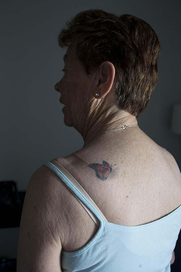 Grandma with new tattoo, Norway 2015.