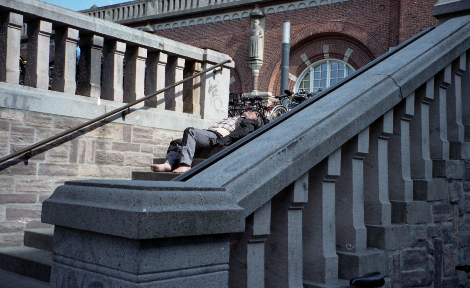 Man on steps, Copenhagen 2013.