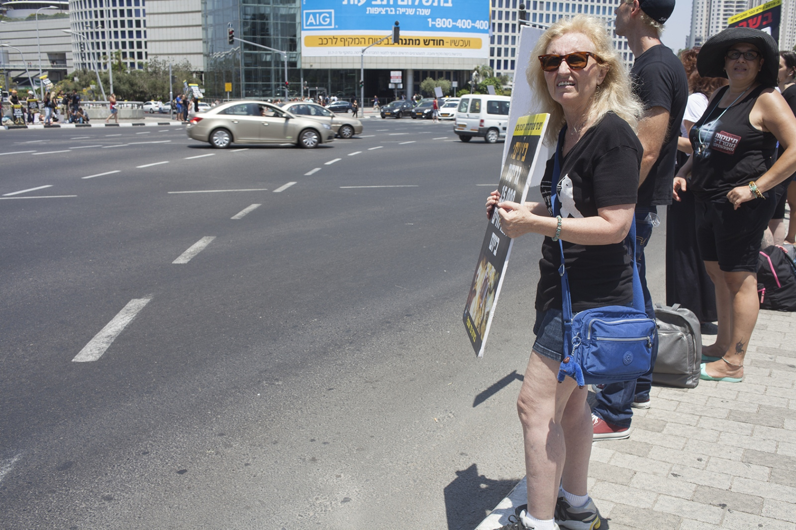 Lady protesting animal rights, Tel Aviv 2015.