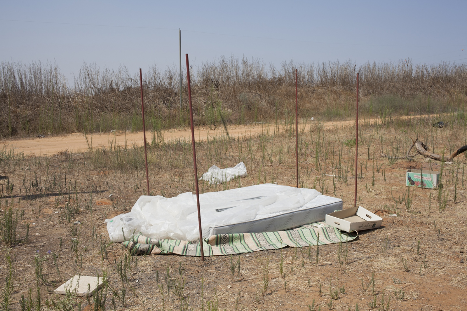 Bed in the desert, outside Tel Aviv 2015.