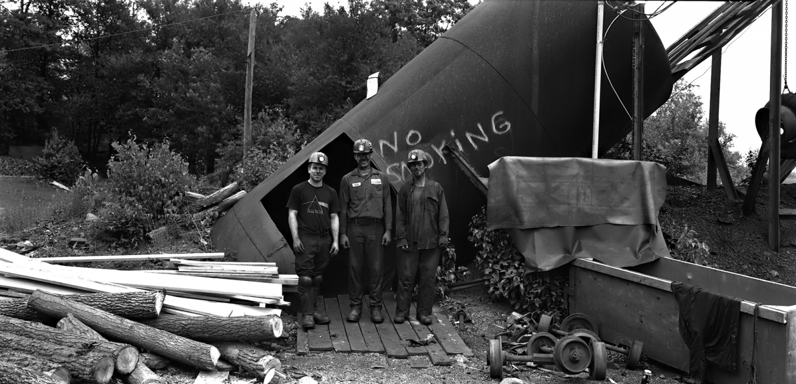 "Little Buck Mine Underground Crew 2011 (mine is now closed and decommissioned) 8x16"" film photograph."