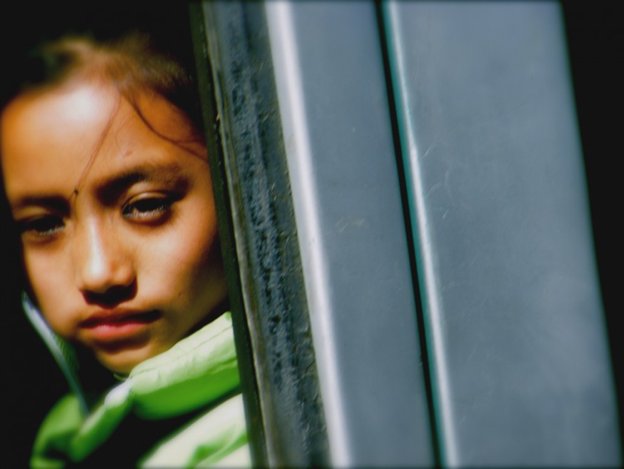Art and Documentary Photography - Loading nepal child on bus.jpg