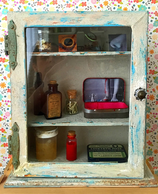 Closer look at the apothecary cabinet I built, 2015