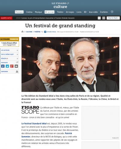 Le Figaro' - Toni Servillo and Peppe Servillo - 2016