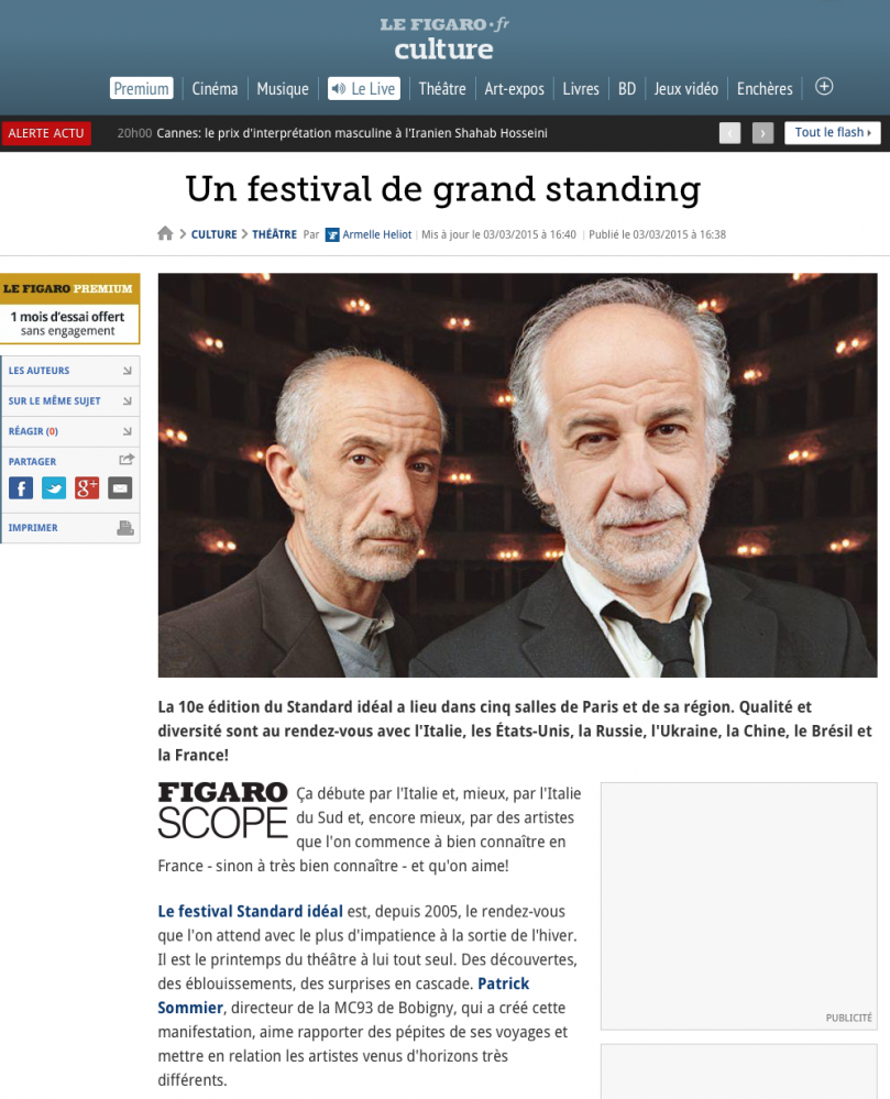 Le Figaro' - Toni Servillo and Peppe Servillo - 2016