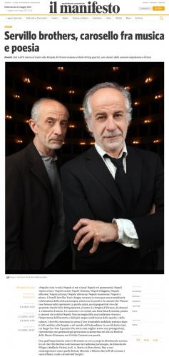 IL MANIFESTO Toni Servillo & Peppe Servillo - 2016