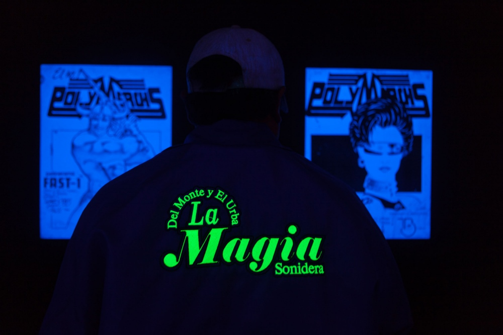"· La Magia soundsystem present in the exhibition in the opening of the exhibition ""Sonidero Graphics""  in the Spanish Cultural Center, which exhibited the work of illustration artist Jaime Ruelas who was responsible for most of the futuristic posters of Sonido Polymarchs in the 80s.  // · Sonido La Magia presente en la exposicion de ""Grafica Sonidera"" en el Centro Cultural de España en donde se presentaron dibujos de Jaime Ruelas de la época de los 80s con su estilo futurista."