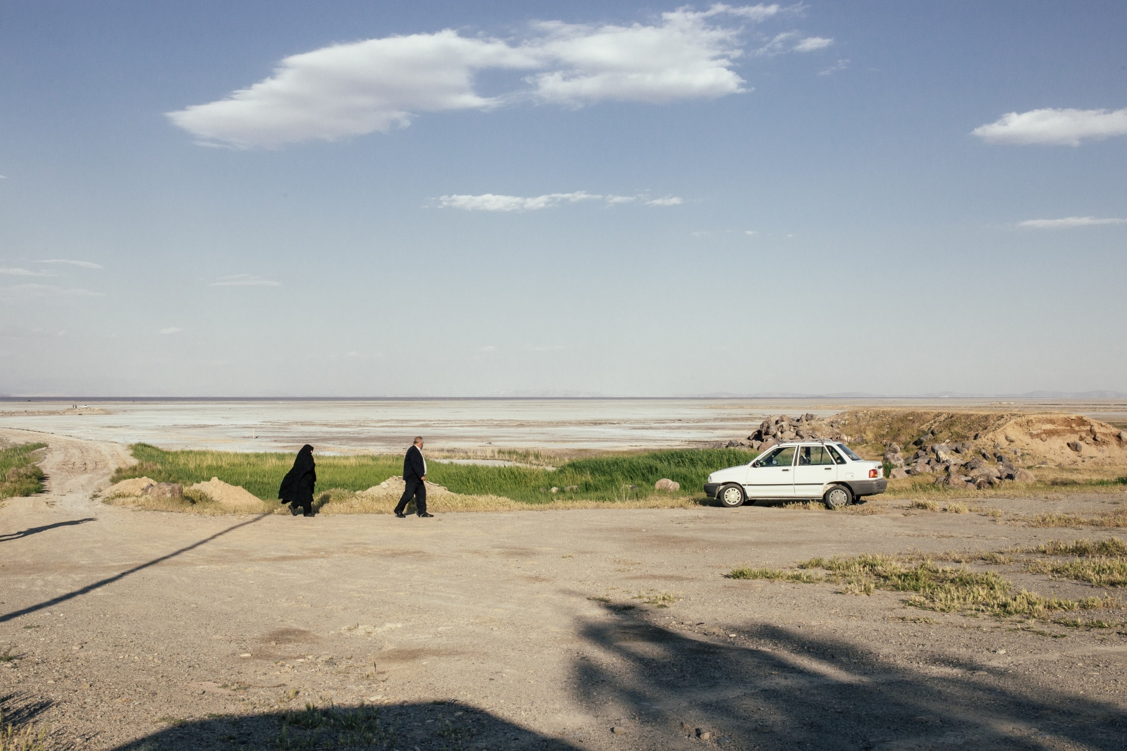 Golmankhaneh port was once the main port on Lake Urmia with coastal beaches and villas ready to welcome travelers. Today it's only a desolate outpost with a salt crust Golmankhaneh port|West-Azerbaijan|Iran.2016