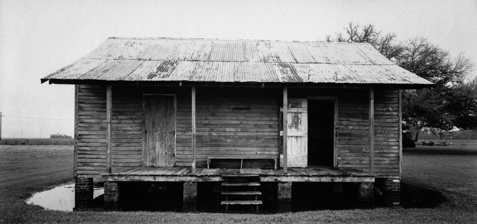 "Slave Dwelling No. 10: St James Parish, Louisiana Silver gelatin photograph handprinted from an 8x16"" film negative."