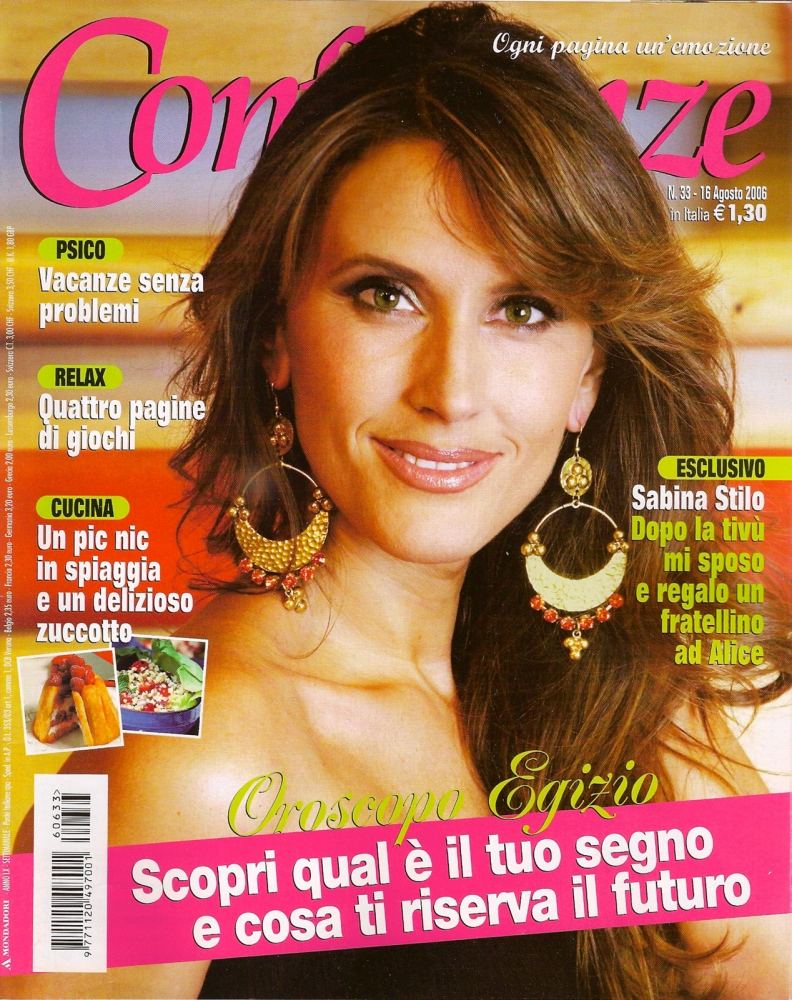 CONFIDENZE  Magazine Cover story 2006