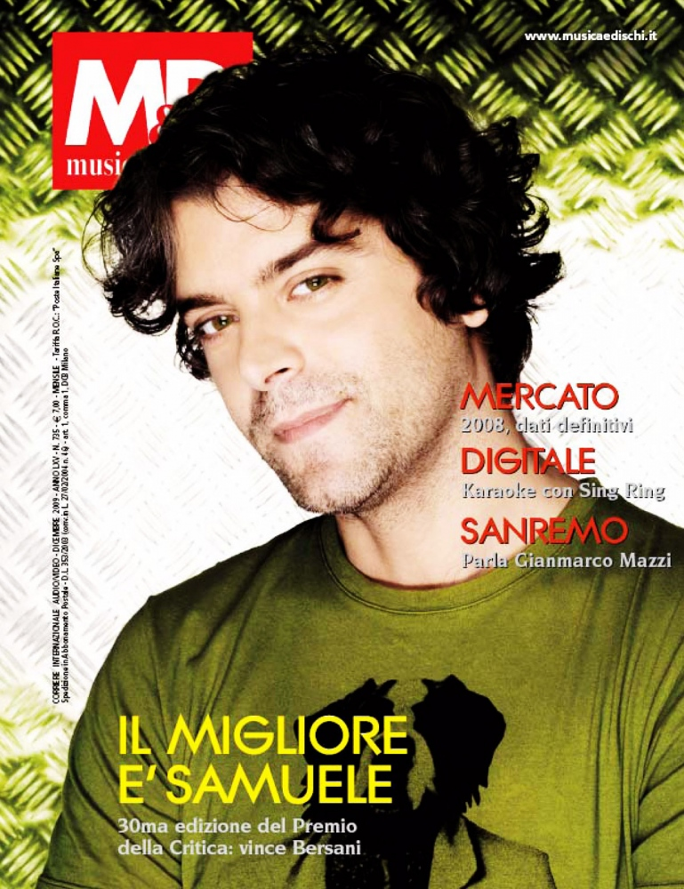MD MUSIC  Cover story Samuele Bersani 2010