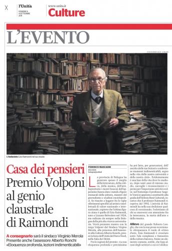 L'UNITA'  Ezio Raimondi