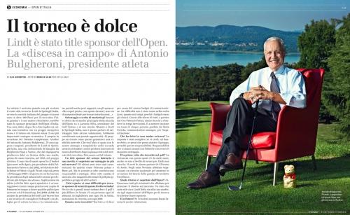 STYLE MAGAZINE  (Corriere della Sera) Antonio Bulgheroni Lindt president