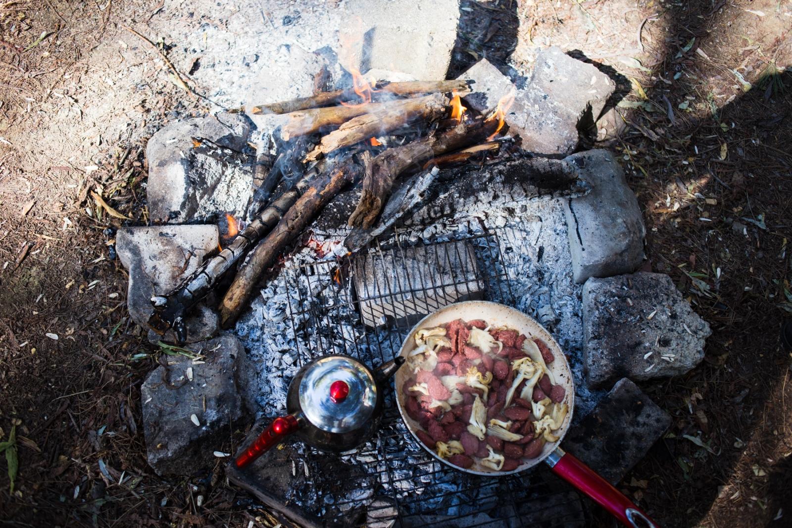 Camping in Karagol near Izmir.