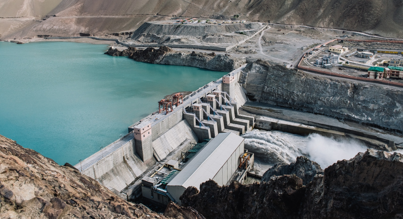 The Nimoo Bazgo Hydroelectric Plant in Alchi, Ladakh, India. It is part of the Nimoo Bazgo Hydroelectric Project currently under construction alongside the Chuttak Hydroelectric Dam both built along the Indus River, a major river and lifeline of water for the a neighboring Pakistan. Although its construction is simply intended to provide substantial energy infrastructure to the region of Jammu & Kashmir, it has been cited as 'a direct violation of the Indus Water Treaty between India and Pakistan,' further increasing geopolitical tensions between the nuclear-armed powers.
