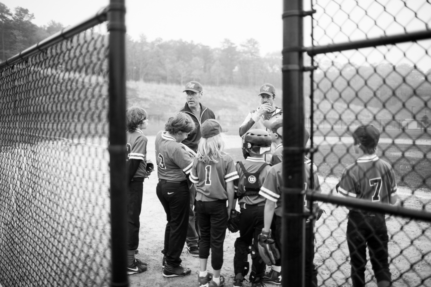 Children participating in youth baseball on Long Island, NY.
