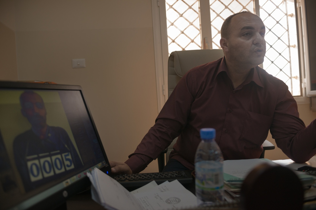 Misrata, Libya - Prison director Col. Abubriedaa explains how he has tried to create a modern, professional prison. Before the fighting between Libya Dawn and Zintan / General Haftar, he had requested and received training from British prison authorities.