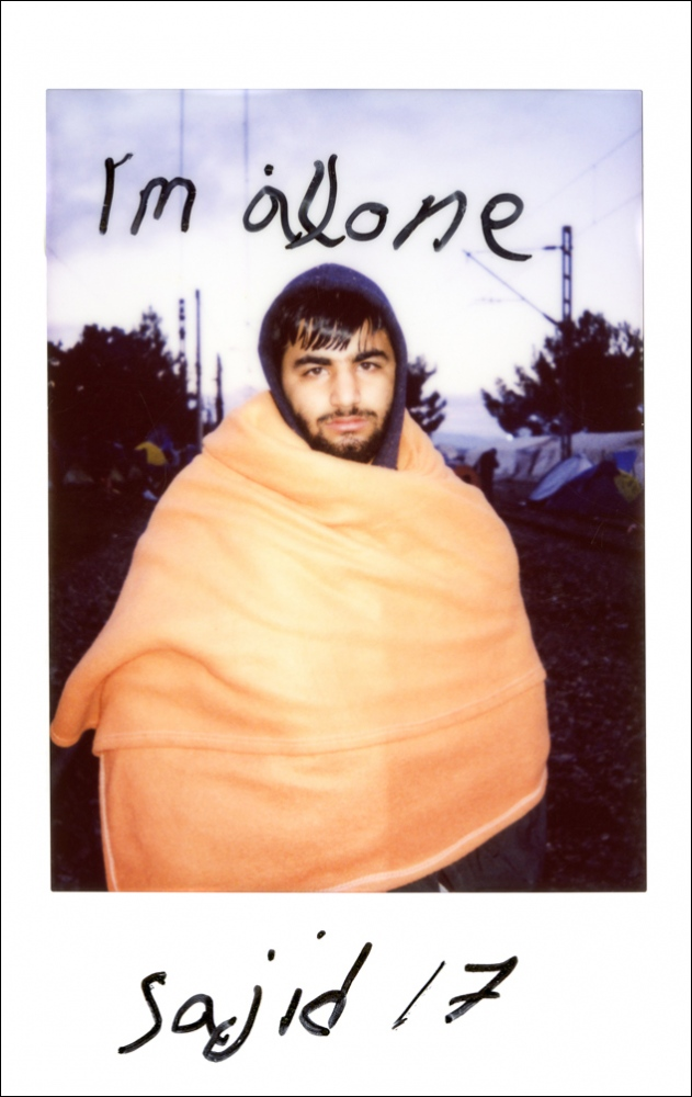 »Im alone Sajid 17« Eidomeni, Greek/Macedonian border