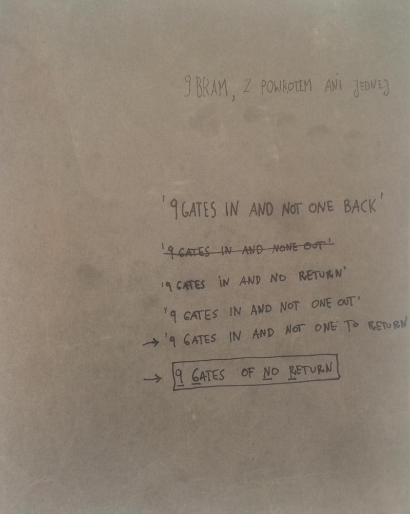 9 GATES OF NO RETURN