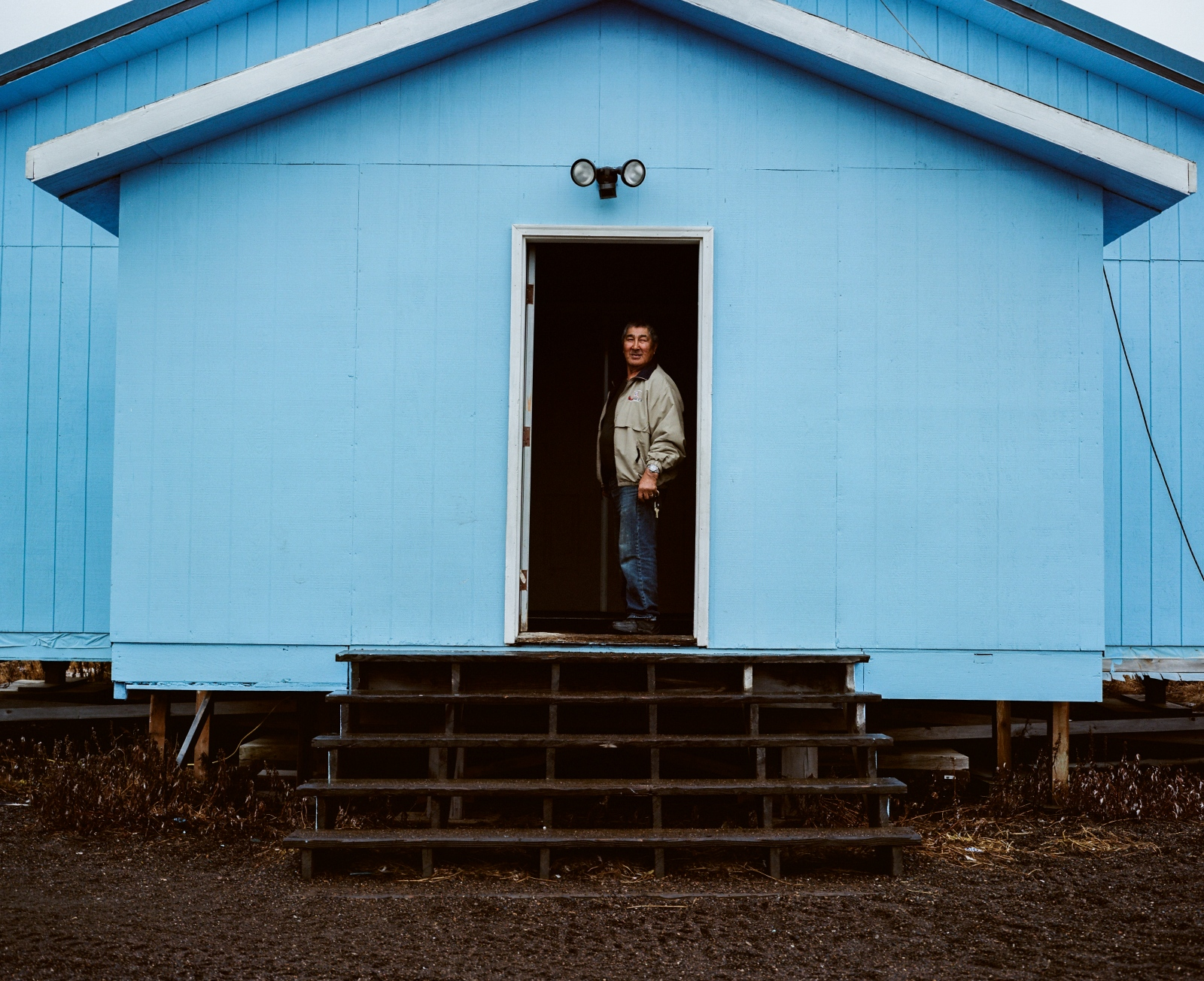 Caleb Wesley, the keeper of the Friends Church in Kivalina, Alaska.