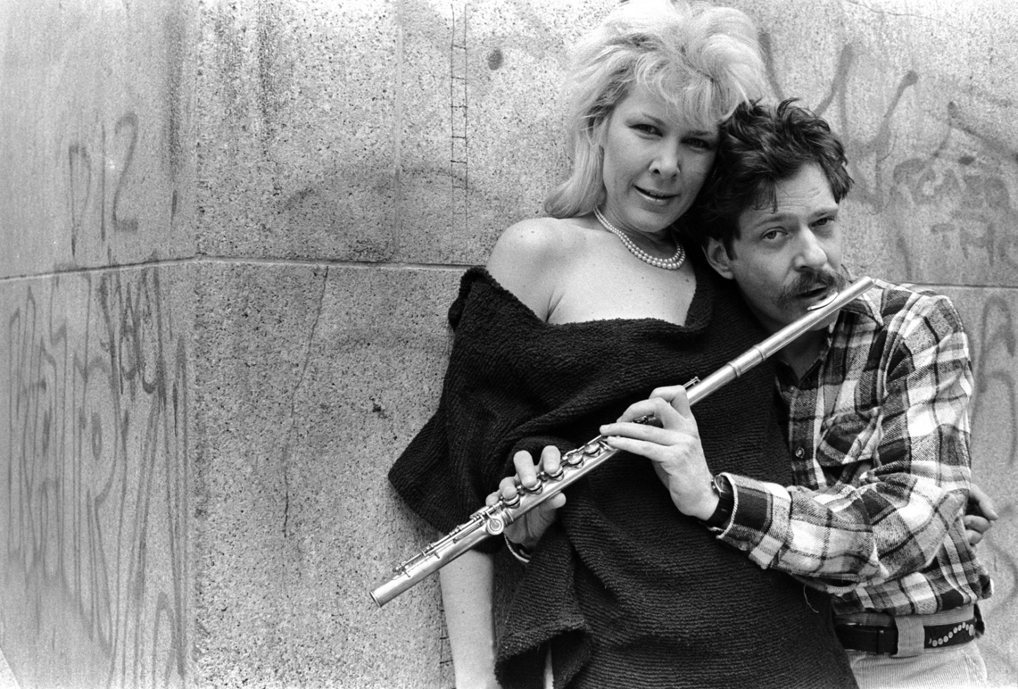 Jeremy Steig and Daina, At the 30th class reunion of the High School of Music & Art- Jeremy was  an acclaimed jazz flutist and the leader of one of the first jazz-rock bands. He died on April 13 in Yokohama, Japan at age 73.
