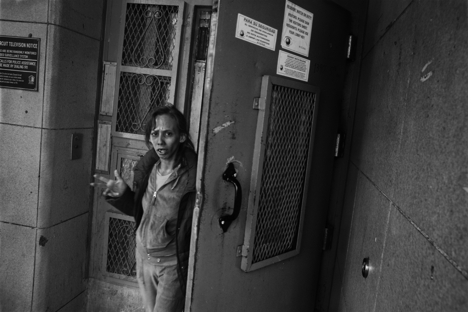 Yahaira De Jesus comes out of a housing project in her neighborhood in West Harlem where she was trying to buy a dose of crack cocaine one hour after being released from Rikers Island.  The first 24 hours after someone is released are crucial to their reintegration process and in many of the cases no reintegration services at all are provided for inmates with mental health issues. March 11th, 2016.