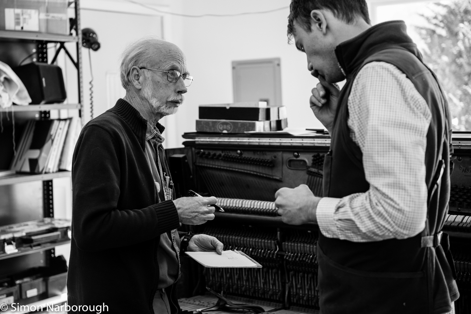 Joseph and Nate work together as a team and plan the work for the day ahead. Joseph has amassed over 40 years of knowledge and experience with this veteran instruments.