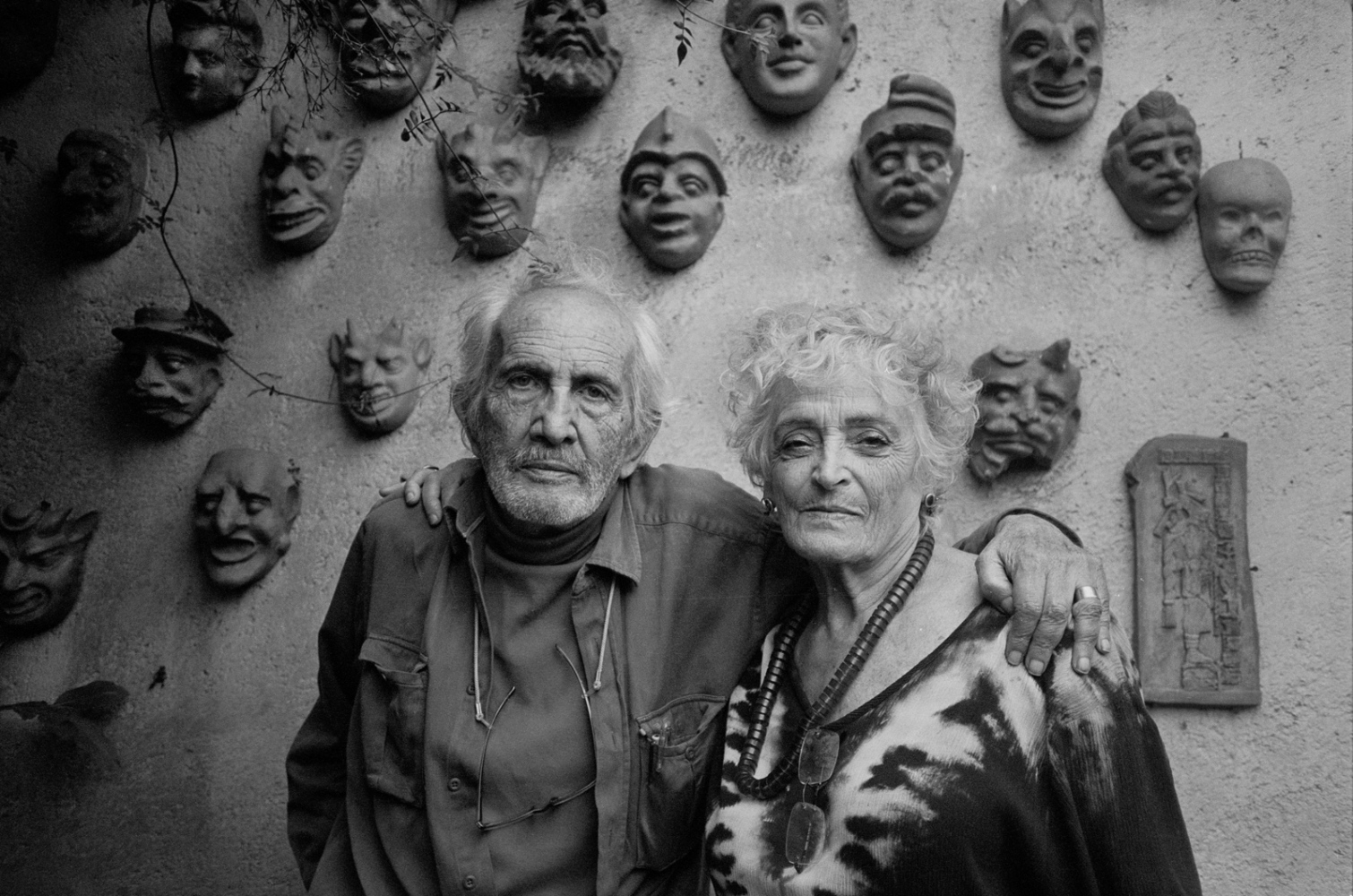 Hugo Velazquez and Aurora Suarez, artists, ceramists, old friends. Hugo was one of the first  people I met when I moved to Mexico, Cuernavaca , Morelos 2010 ©Sylvia de Swaan