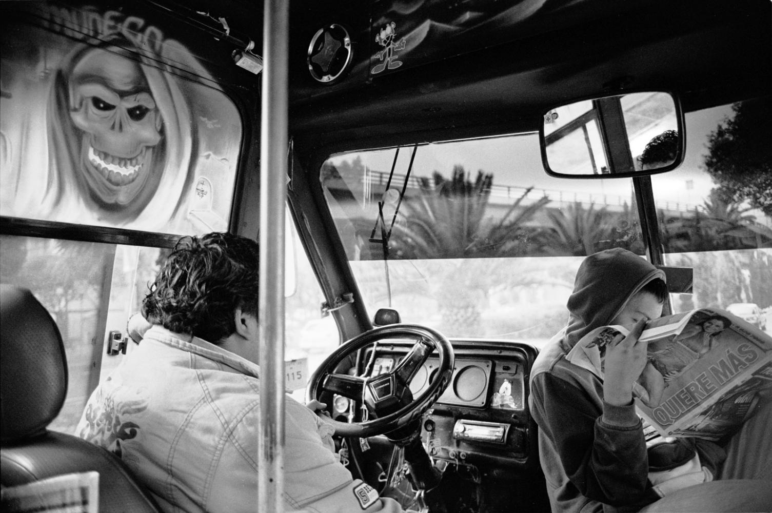 Autobus rumbo La Merced, Mexico, D.F. 2010 ©Sylvia de Swaan
