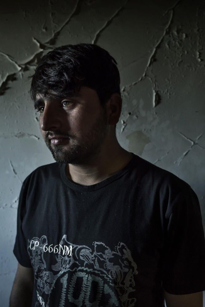 Asylum seeker from Pakistan. He has been stuck for two months in Idomeni.