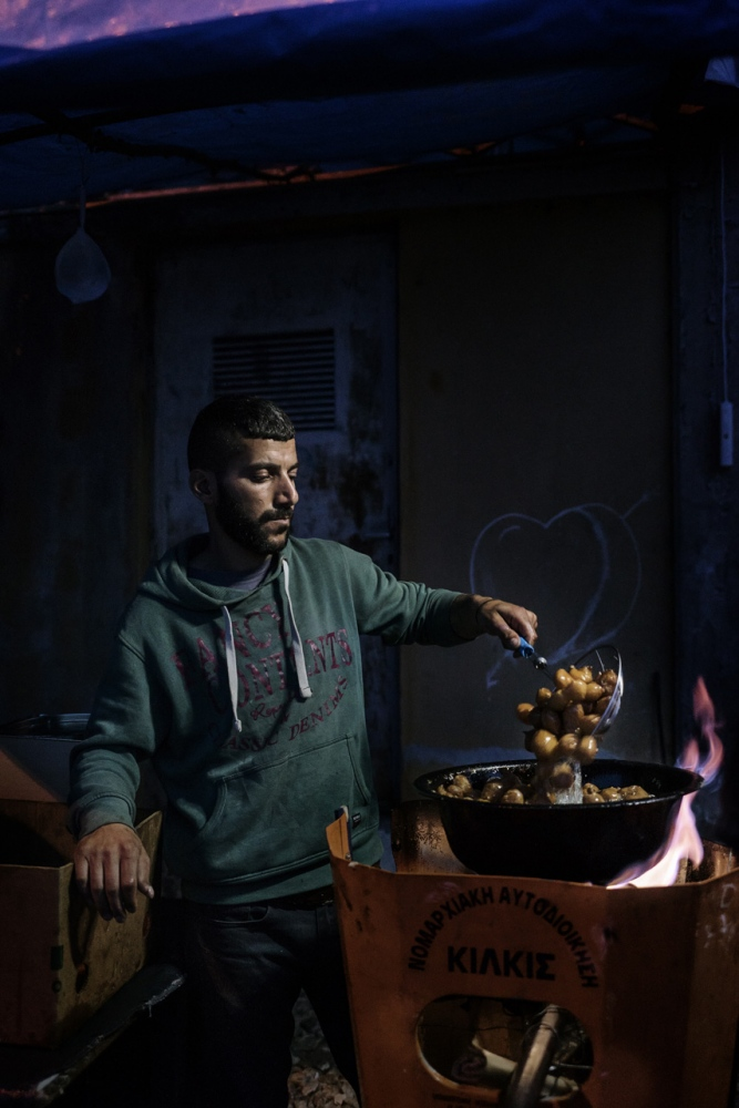 M. (Aleppo, Syria) cook and sell food in Idomeni camp. After the evacuation of camp, I lost his traces completely.