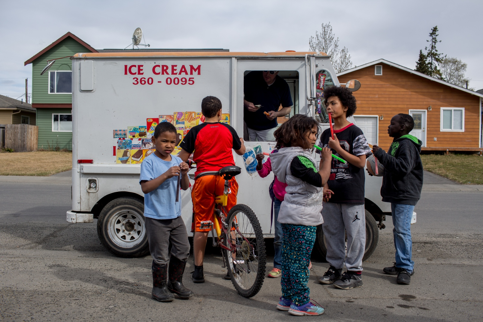 The ice cream truck is a regular character in the neighborhood of Mountain View. During the warmer months, its tinny songs an be heard making rounds throughout the afternoon and into the evening.
