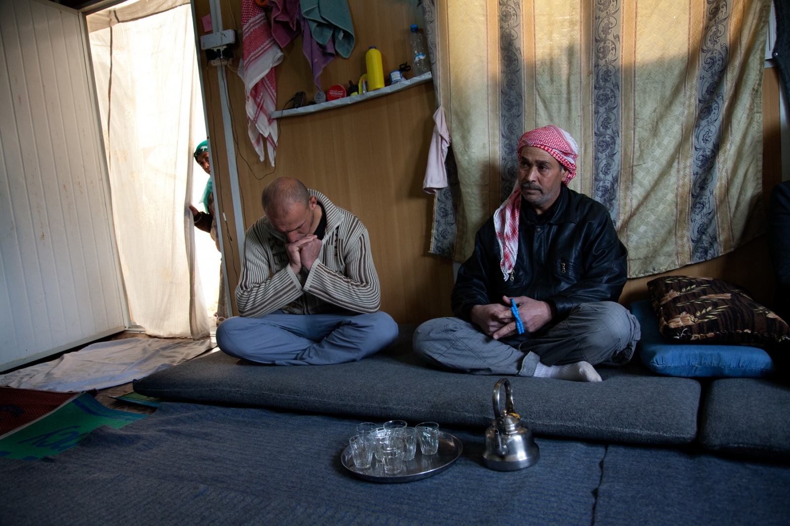 Families do their best to recreate a homelike environment at Zaatari refugee camp.