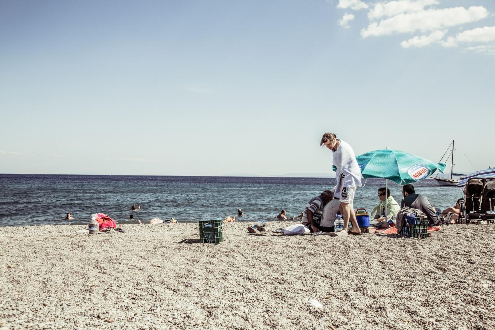 Bayram on the beach, Turkey
