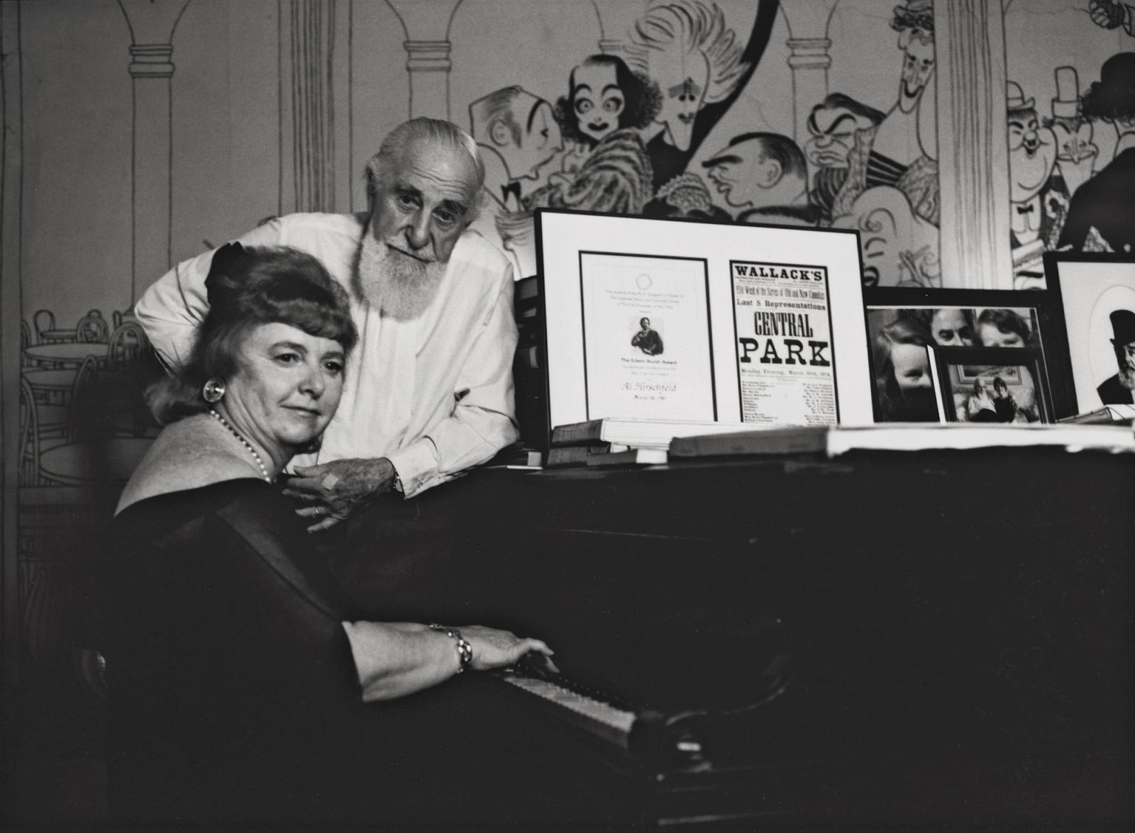 AL HIRSCHFELD and NINA WEST      New York City 1997