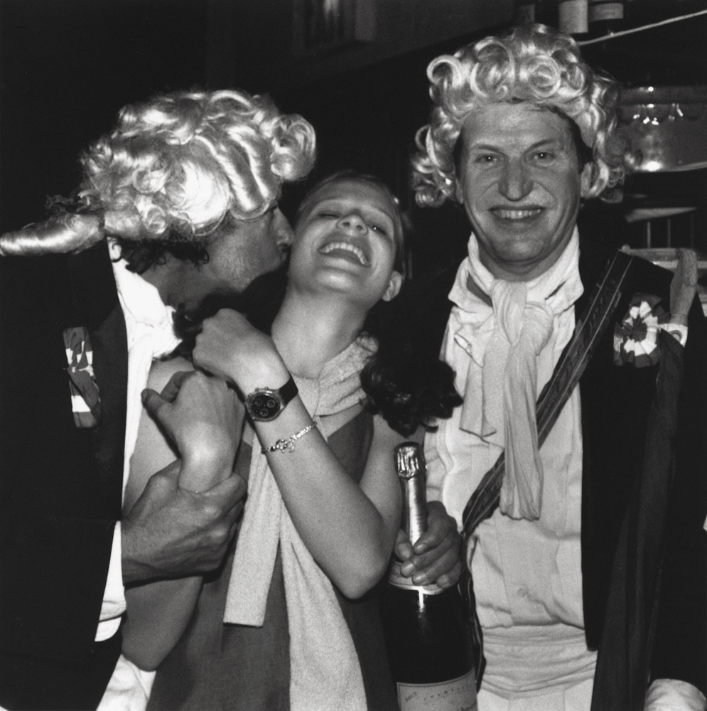 MICHEL and EMILIE JEAN     with,  on left , Marc Minet   Bastille Day, New York City 1998